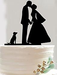 Mr And Mrs Acrylic dog wedding cake inserted fine decoration birthday cake inserted card