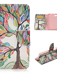 The Tree of Life Pattern Fashion PU Leather Case with Stand and Card Holder for BQ Aquaris M5(Assorted Colors)
