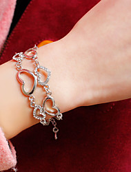 Femme Chaînes & Bracelets Bracelets de tennis Alliage Strass Imitation de diamant Pierre Hip-Hop Argent Bijoux 1pc