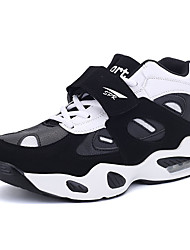 Men's Athletic Shoes Spring Fall Comfort PU Casual Flat Heel Lace-up Black White Orange