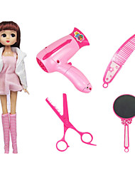 Pretend Play Dollhouse Accessory Leisure Hobby Toys Novelty Toys Plastic Pink For Girls