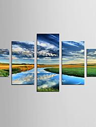 Canvas Set Famous Landscape Modern Realism,Five Panels Canvas Any Shape Print Wall Decor For Home Decoration