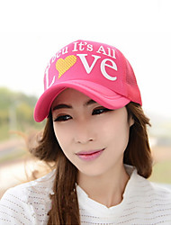 Summer Women Printing Love Letters Net Cap Baseball Cap Mountaineering Caps Sunscreen Caps Tourism Caps