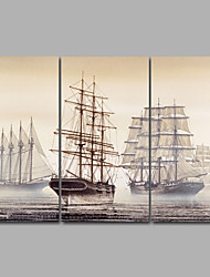 Canvas Set Unframed Canvas Print Landscape Still Life TraditionalThree Panels Canvas Sailboat Print Wall Decor For Home Decoration