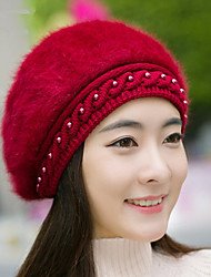 Rabbit Fur Hat Women And Autumn And Winter Plus Warm Beret Hooded Rabbit Youth Fashion Rabbit Head Cap