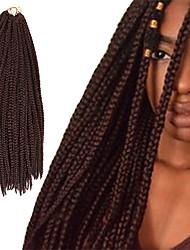 Box Braids Twist Braids Dark Wine Hair Braids 24Inch Kanekalon 90g Synthetic Hair Extensions