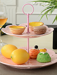 European Afternoon Tea. Multilayer Fruit. Disc Pastry all The Plate Ceramic Two-Tier of Dried Fruit Cake Plate Tray Design is Random