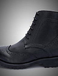 Men's Boots Fall Winter Other Cowhide Leatherette Outdoor Casual Black Brown Coffee Other