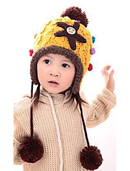 Girl's Knitting Cute Winter Going out/Casual/Daily Keep Warm Solid Color Starfish Headgear Baby Hat Children Cap