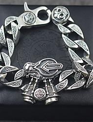 Pulseiras Bracelete Prata de Lei Others Moda Vintage Aniversário Festa Presentes de Natal Jóias Dom Prateado,1peça