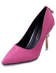 Для женщин Обувь на каблуках Полиуретан Весна Лето Повседневные Для праздника Жемчуг На шпильке Черный Желтый Розовый 2,5 - 4,5 см