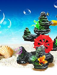 Aquarium Decoration Ornament Rocks Resin/Silicone Black