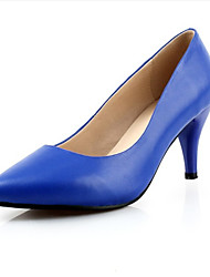 Women's Heels Spring Summer Other Cowhide Dress Stiletto Heel Black Royal Blue