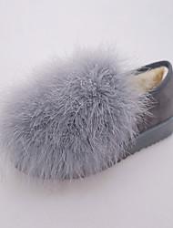 Women's Boots Winter Platform PU / Microfibre Office & Career / Casual Low Heel Zipper / Lace-up Black Walking