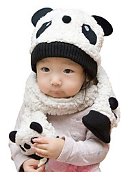 Unisex Cotton Winter Going out/Casual/Daily Boy And Girl Warmth Panda Hat Caps & Scarf Two-piece Set