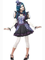 Disfraces de Cosplay Ropa de Fiesta Baile de Máscaras Mago/Bruja Calavera Vampiros Cosplay de Películas Púrpura Un ColorVestido Para la