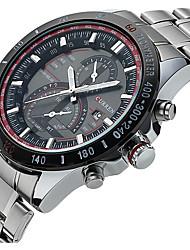 Man Large Dial Precision Steel Calendar Watch