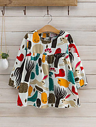 Girl Casual/Daily Patchwork ShirtCotton Spring Fall Long Sleeve Regular