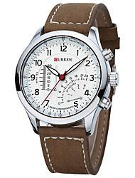 CURREN 8152 New Authentic Waterproof Nubuck Leather Luminous Quartz Watch