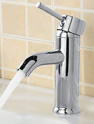 Silver Basin Bathroom Faucet Hot And Cold Water Tap Deck Mounted Mixer Tap