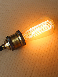 60W  ST58 Edison Incandescent Light Bulbs 19 E27 Silk Vertical Wire Retro Decorative Light Bulbs