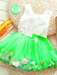 2015 New Casual Cotton girl dress, baby girls clothes Flowers girl dresses vestido infantil kids clothes