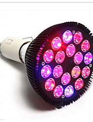 50W E26/E27 LED Aufzuchtlampen PAR38 18 Hochleistungs - LED 5000 lm Rot Blau V 1 Stück