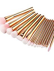 15Conjuntos de pincel Pincel para Blush Pincel para Sombra Pincel de Sombrancelha Pincel de Eyeliner Liquido Cílio Escova Pincel para