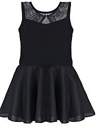Ballet Dresses Children's Training Cotton Spandex Draped Lace 1 Piece Sleeveless Dress