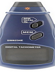 Professional Digital Laser Photo Non-Contact Tachometer RPM Tach Gauge (2.5~999.9RPM, 0.1RPM/1RPM)