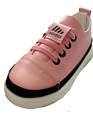 Girl's Athletic Shoes Spring Fall Winter Comfort PU Casual Low Heel Lace-up Black Pink White Other