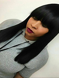 Silk Base Full Lace  Wig Picture Style Straight Brazilian Virgin Human Hair For African American Women