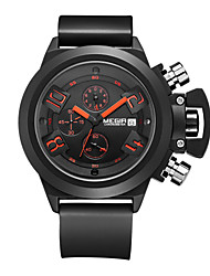 Men  MEGIR Dial Calendar Waterproof Tape Military Exercise Quartz Watch