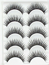 12 Patterns 5 Pairs False Eyelashes Natural Black Long  Full Strip Lashes Crossed Eyelash for Eye Makeup with 3 Pieces Tattoos (Assorted Patterns)