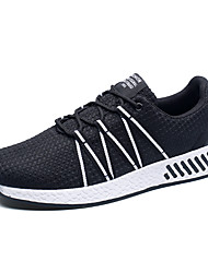 Running Shoes Unisex Sneakers Spring / Fall Comfort Tulle Athletic Flat Heel Black / Red Walking / Running