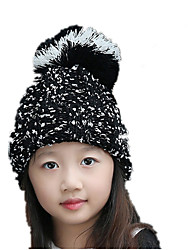 Children 'S Fashion New Autumn And Winter Straight Cashmere Single - Mao Wadao Warm Knit Hat