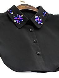 Collana imitazione dello zaffiro L'imitazione di Ruby Colletto Gioielli Quotidiano Casual A forma di fiore Floreale Cristallo Da donna1