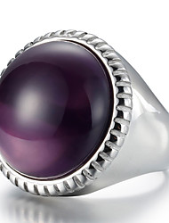 Ringe Alltag Normal Schmuck Krystall Titanstahl Damen Herren Statementringe Ring 1 Stück,6 7 8 9 Schwarz Blau Lila