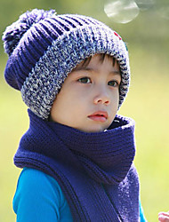 Boy's Fashion Winter Going out/Casual/Daily Knitting Keep Warm Patchwork Headgear Baby Cap Children's Hat