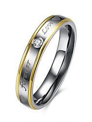 Romantic White Zircon Forever Love 316L Stainless Steel Rings For Women Wedding Engagement Finger Ring R087