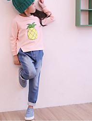 Girl Casual/Daily Solid Geometric Blouse,Rayon Spring Fall Long Sleeve Short