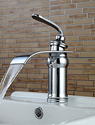 Contemporary Brass Chrome Bathroom Sink Faucet