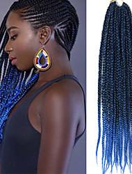 Kanekalon ombre color Jumbo Braid 24inch Crochet Hair Extensions 3X Box Braids Hair Ombre Braiding Hair Extensions Synthetic kanekalon Hair braiding