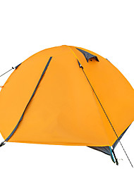 2 persons Tent Double One Room Camping Tent Aluminium PUWaterproof Breathability Rain-Proof Dust Proof Windproof Ultra Light(UL) Flannel