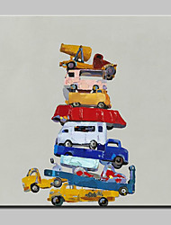 Large Hand Painted Modern Abstract Car Oil Paintings On Canvas Wall Art Picture For Living Room Home Decoration Ready To Hang