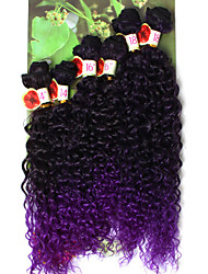 promotion price synthetic deep Curly kinky Curly Braids Hair Extensions synthetic curly hair bundles Kanekalon 6 bundles/lot