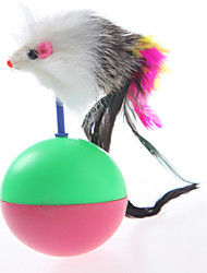Cat Toy Pet Toys Interactive Mouse Red Green Plastic