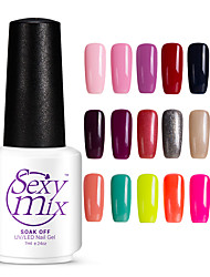 Nail Polish UV Gel  7 1 Soak Off Glitters UV Color Gel Jelly Shimmering Soak off Long Lasting