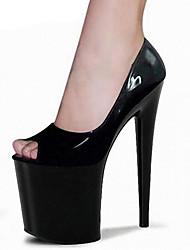 Damen-High Heels-Outddor Kleid Lässig Party & Festivität-PU-Stöckelabsatz-Komfort Neuheit Club-Schuhe-Schwarz