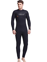 Dive&Sail® Women's Men's 3mm Dive Skins Full WetsuitWaterproof Breathable Thermal / Warm Quick Dry Ultraviolet Resistant Front Zipper